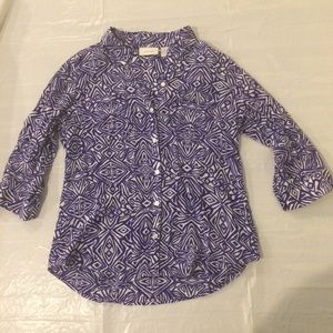 Chico's 3/4 Sleeve Button Down Women's Size 1